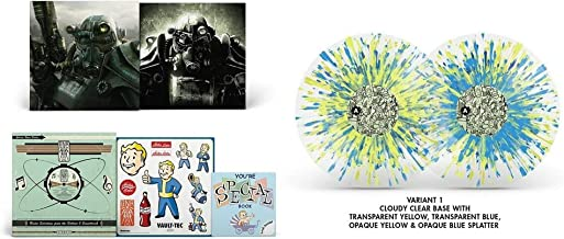 Fallout 3 10th Anniversary - Exclusive Limited Edition Cloudy Clear With Yellow And Blue Splatter Colored 4x Vinyl LP Box Set