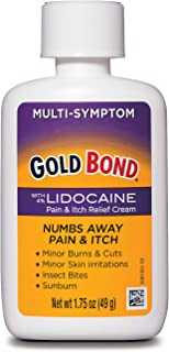 Gold Bond Pain & Itch Relief Cream with Lidocaine, 1.75 Ounces