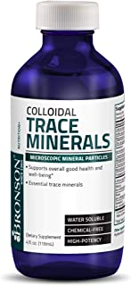 Bronson Colloidal Trace Minerals High Potency Chemical Free Microscopic Essential Mineral Particles , 4 fl. oz.