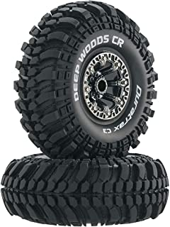 Duratrax Deep Woods RC Rock Crawler Tires with Foam Inserts, C3 Super Soft Compound, High Traction, 2.2