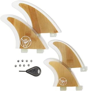 South Bay Board Co. - Two Tab FCS Surfboard Fins - 3-Fin Thruster & 4-Fin Quad FCS Surf Fins (Standard & Premium) - Fits F...