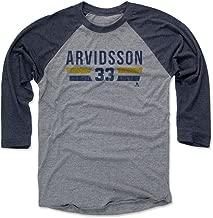 500 LEVEL Viktor Arvidsson Baseball Tee - Unisex Adult - Nashville Hockey Raglan Shirt - Viktor Arvidsson Nashville Font