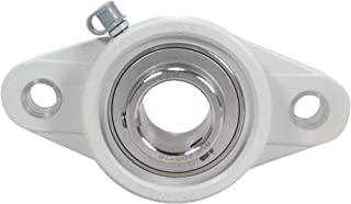 """UCFT206-20  High Quality 1-1//4/"""" Set Screw Insert Bearing with 2-Bolt Flange"""