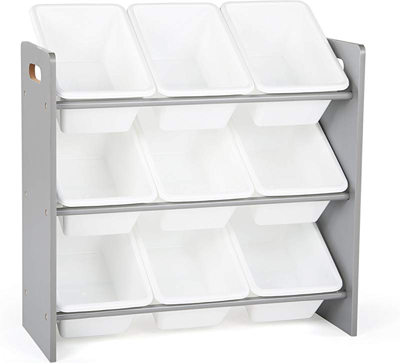 Tot Tutors WO848 Toy Organizer 24 Tall Grey White