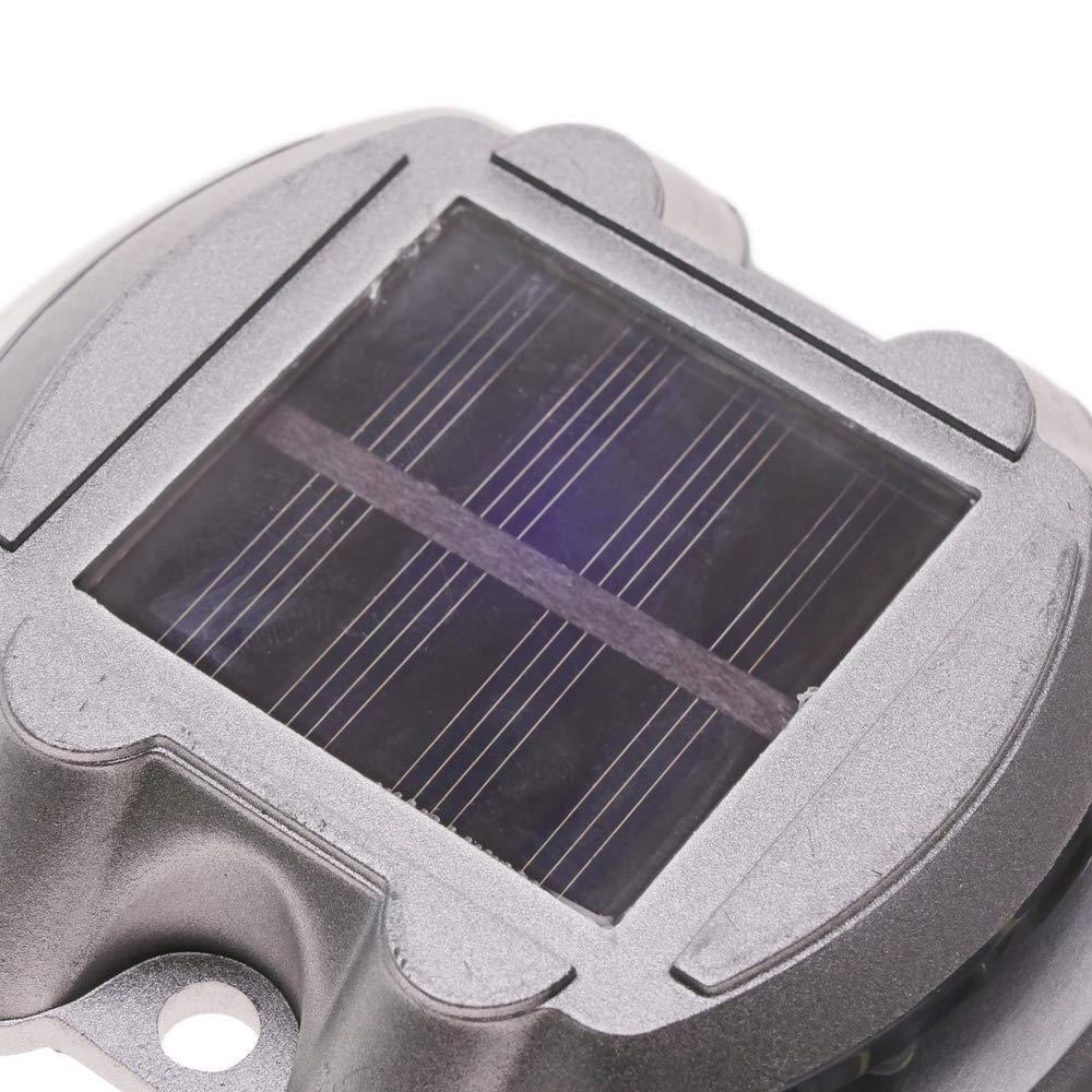 PrimeMatik - Baliza solar LED de carretera. Captafaros para señalización 108x95x22mm de aluminio 2-pack: Amazon.es: Electrónica