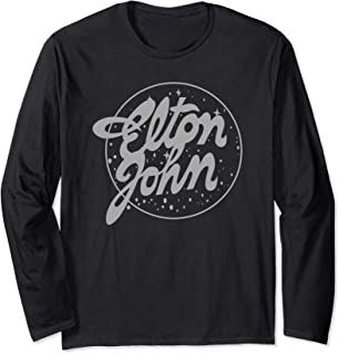 Elton John Official Vintage Tour Logo Long Sleeve T-Shirt