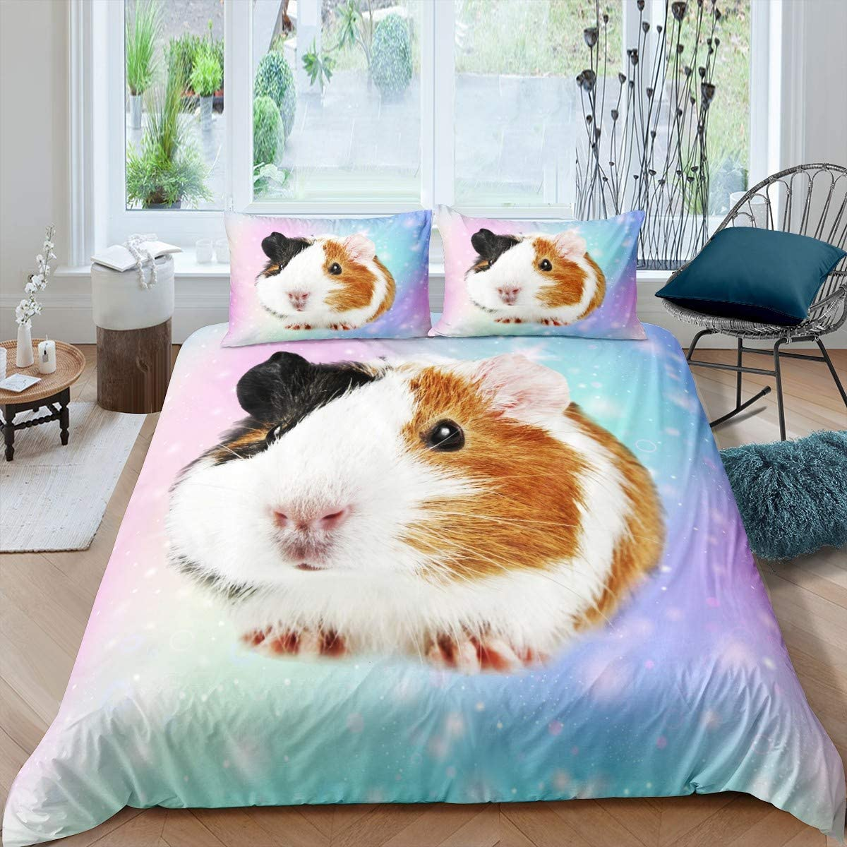 Guinea Now free shipping Pig Louisville-Jefferson County Mall Bedding Set for Girls Cavy Pattern Cute Boys Children