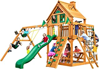 Gorilla Playsets Navigator Treehouse Swing Set w/Natural Cedar
