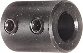 Climax Part RC-037 Mild Steel, Black Oxide Plating Rigid Coupling, 3/8 inch bore, 3/4 inch OD, 1 inch Length, 1/4-20 x 3/16 Set Screw