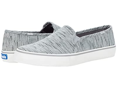 Keds Double Decker Heathered Stripe Knit (Gray) Women