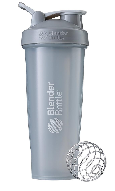 模索正義脈拍BlenderBottle Classic ブレンダーボトル クラシック Shaker Bottle 32-Ounce Loop Top PEBBLE GREY CLSC32LOOP
