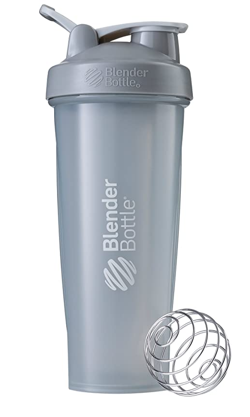 砂の養うにんじんBlenderBottle Classic ブレンダーボトル クラシック Shaker Bottle 32-Ounce Loop Top PEBBLE GREY CLSC32LOOP