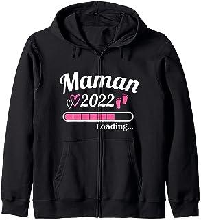 Future Maman 2022 Annoncer Grossesse Enceinte Annonce Papa Sweat à Capuche