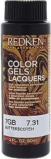 Redken Color Gels Lacquers Haircolor - 7gb Butterscotch By Redken For Unisex - 2 Oz Hair Color 2 oz