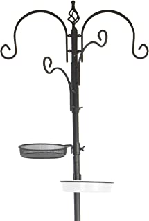 Clever Garden Bird Feeding Station Kit, Bird Feeder Pole with Mesh Tray and Bird Bath for Bird Watching and Attracting Wil...