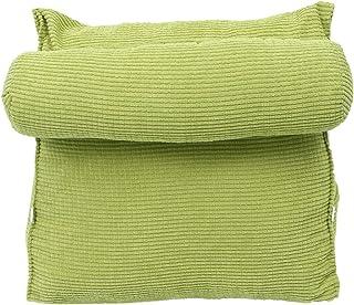 LIOOBO Almohada cojín de Respaldo Almohada de Lectura sofá Cama Silla de Oficina cojín de Descanso Almohada de Soporte de Cuello (Verde)