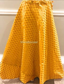 yellow brocade lehenga