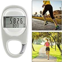 Hamkaw 3D-stappenteller met clip, draagbare wandelstep counter voor mannen, vrouwen, kinderen, calorieënteller en trainingstijd.