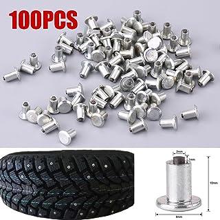 "RINTOWA 100pcs 9mm/0.35"" Wheel Tyre Stud Screws,Anti-Slip Snow Screw Stud,Tire Spikes for Car Automobile Motorcycle"