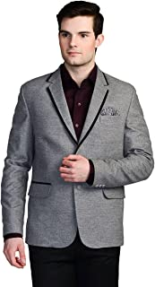 LUXURAZI Grey Tweed Designer Festive wear Blazer/Sportcoat
