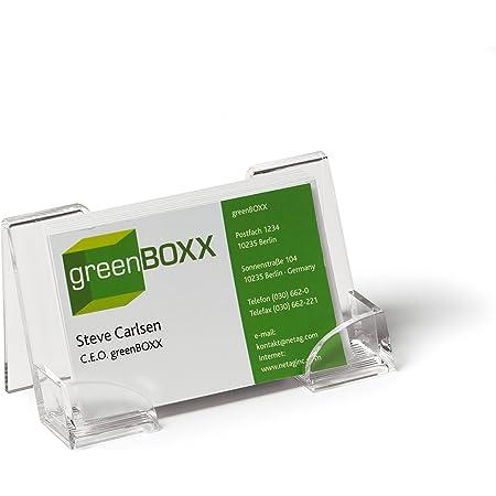 Durable 241419 Porte-cartes de visite en acrylique, 1 pièce, transparent