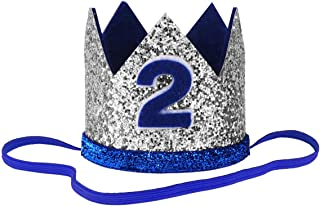 iEFiEL Infant Baby Boys Girls Birthday Crown Headband Prince Party Hat Hairband Photo Props