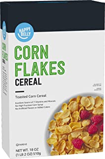 Amazon Brand - Happy Belly Corn Flakes, 18 Ounce