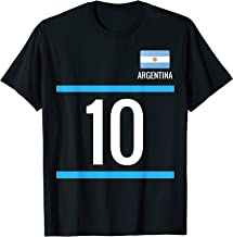 Argentina Soccer T-Shirt with number 10 - sports