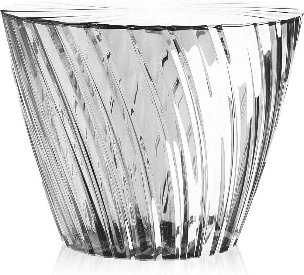 kartell sparkle,tavolino in pmma trasparente o colorato in massa 8805/b4
