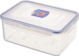 Lock & Lock Rectangular Food Container, 2.3 Liter Hpl825 - Clear Blue