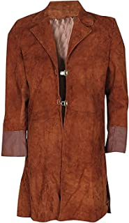 Firefly Malcolm Reynolds Costume Suede Leather Trench Brown Coat
