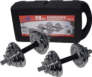 Skyland Unisex 20kgs. Adult Chrome Dumbbell Set Em-9227-20 - Chrome, L 43 X W 25 X 16 cm