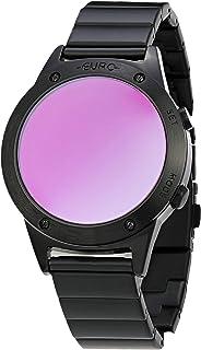 Relógio Euro, Pulseira de Aço Inoxidável, Feminino Preto EUJHS31BAD/K4G