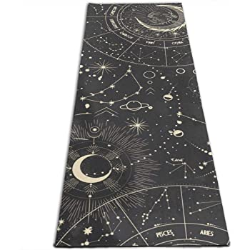 Amazon Com Wildmagic Moon Phases Yoga Mat 5mm Sticky Mat W Eco Friendly Printed Design Sports Outdoors