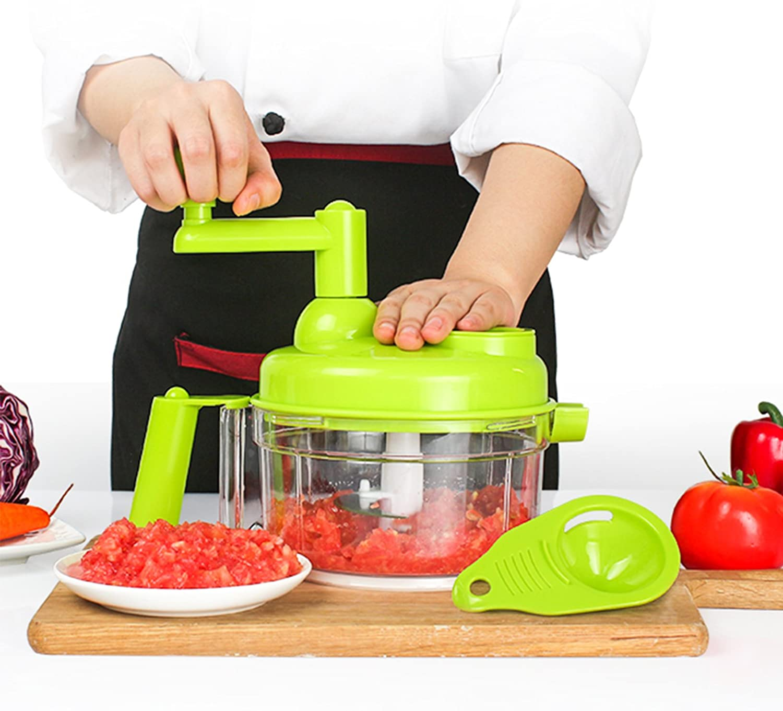 Tenta Kitchen 3.2-Cup/800ml Hand Crank Food Processor/Manual Foo