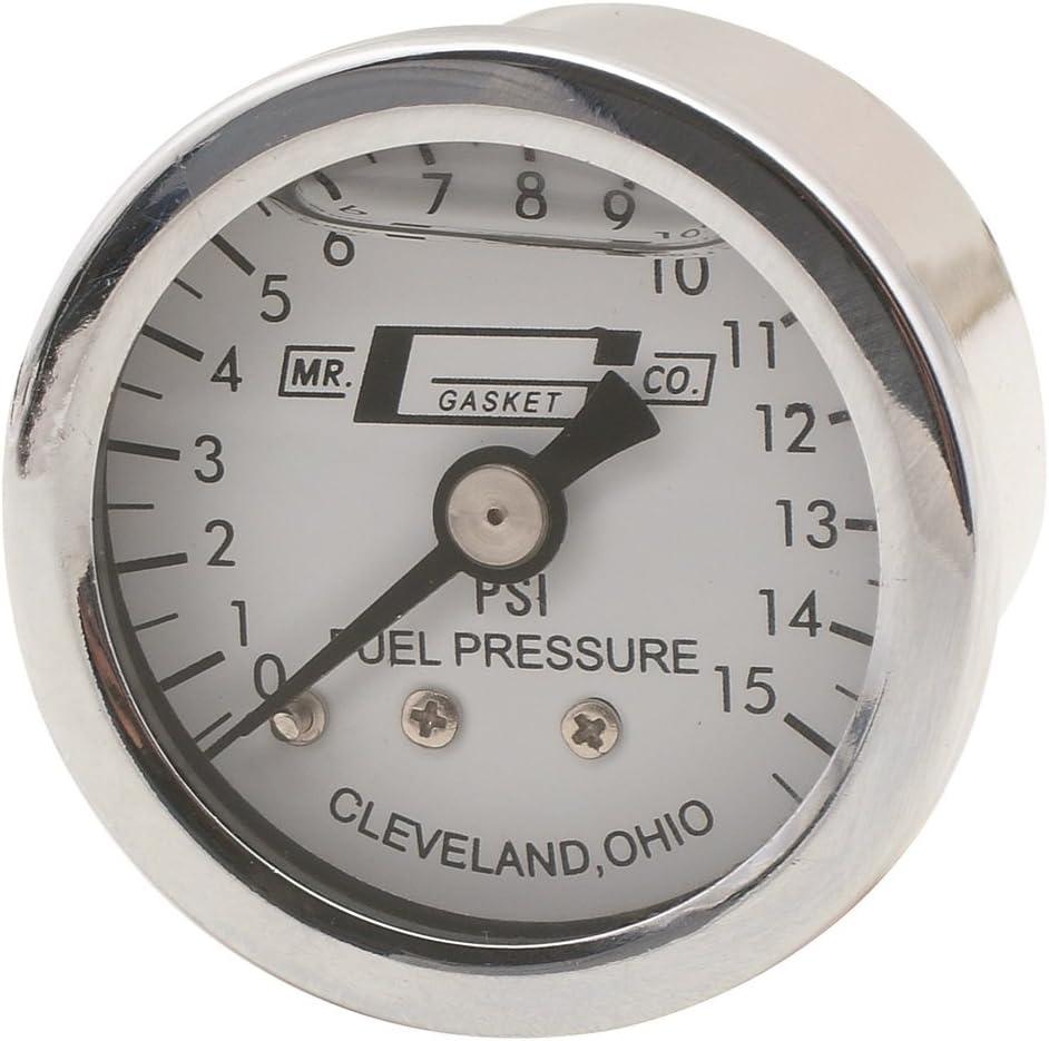 Mr. Gasket Surprise price 1563 Liquid [Alternative dealer] Fuel Pressure Gauge Filled