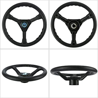 Amarine Made 13-1/2 inch Plastic Steering Wheel with 3 Spoke - for Yamaha Outboard Marine-Black Foam