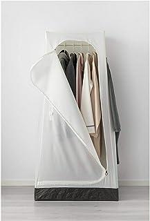 Ikea VUKU Armoire sur pied, légère, multi-usage Blanc 74 x 51 x 149 cm