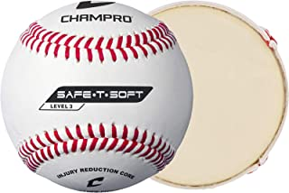Champro Safe-T-Soft - Balón de béisbol (Blanco, 22,86 cm, 1 docena)