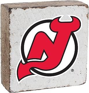 NHL New Jersey Devils, White Background, Team Logo Block,  6