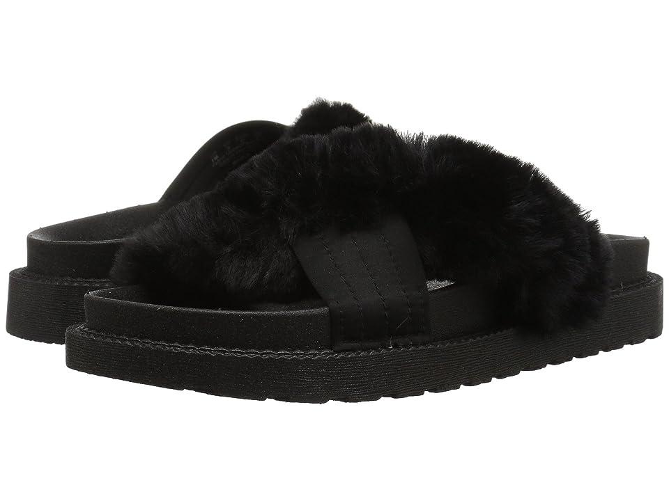 Sam Edelman Bianca (Black Faux Fur/Embossed Lizard Leather) Women