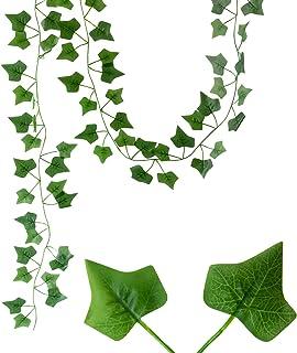 Valo Concept 12 Enredaderas de Hojas Artificiales – Follaje Verde – Guirnalda con Follaje – Plantas Colgantes – Ideal para...