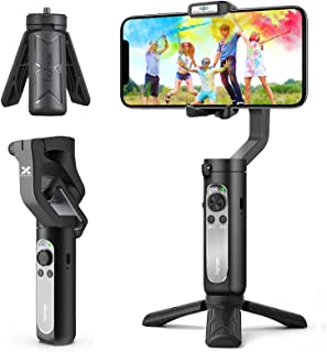 3-Axis Gimbal Stabilizer for Smartphone - 0.5lbs Lightweight Foldable Phone Gimbal w/Auto Inception Dolly-Zoom Time-lapse,...