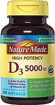 Nature Made Vitamin D3 5000 IU Ultra Strength Softgels, 220 Count