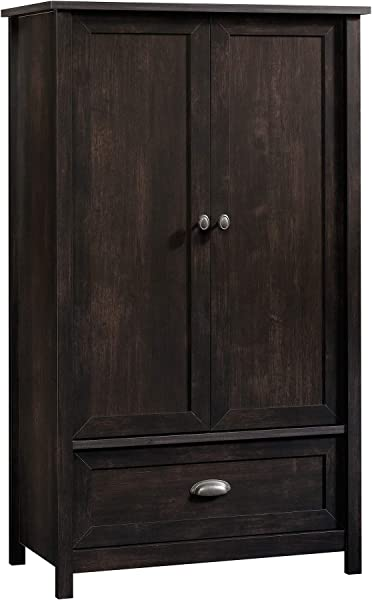 Sauder 419453 County Line Armoire 33 31 L X 18 58 W X 56 97 H Estate Black Finish