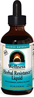 Source Naturals Wellness Herbal Resistance Liquid Formula with Echinacea, Coptis & Yin Chiao Immune Support - 4 Fluid oz