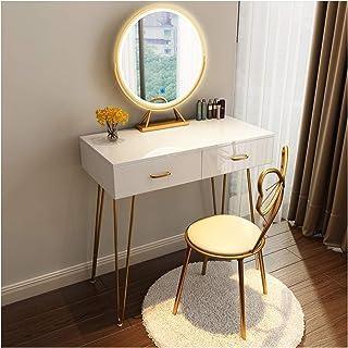 Coiffeuse Table de Maquillage Moderne Coiffeuse Blanche Table cosmétique de Chambre à Coucher avec Tabouret de Maquillage ...