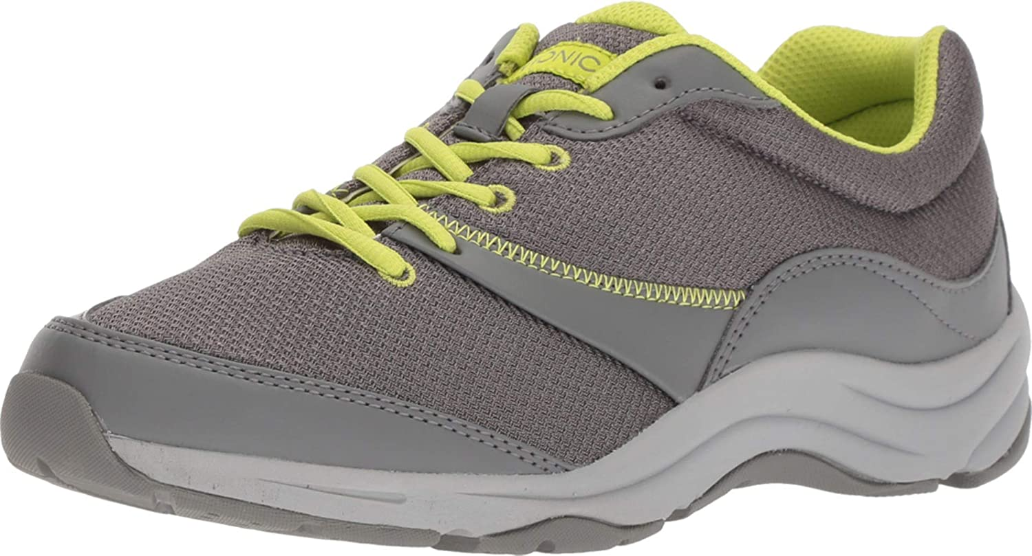 Vionic Womens Action Kona Lace-up Walking Fitness Shoes Ladies Sneakers with Concealed Orthotic Arch Support