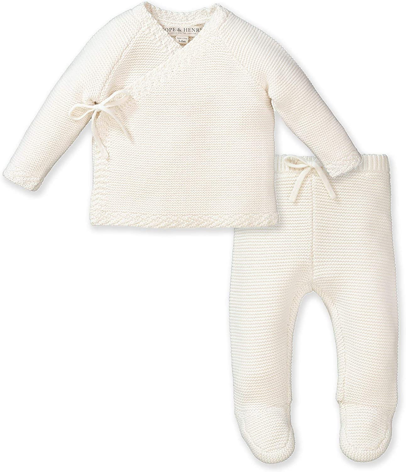 Hope Henry Layette Max 78% OFF Price reduction Kimono Tie Sweater Legging 2-Pie and Footed