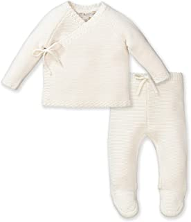Layette Kimono Tie Sweater and Footed Legging 2-Piece Set